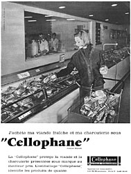Publicité Cellophane 1960