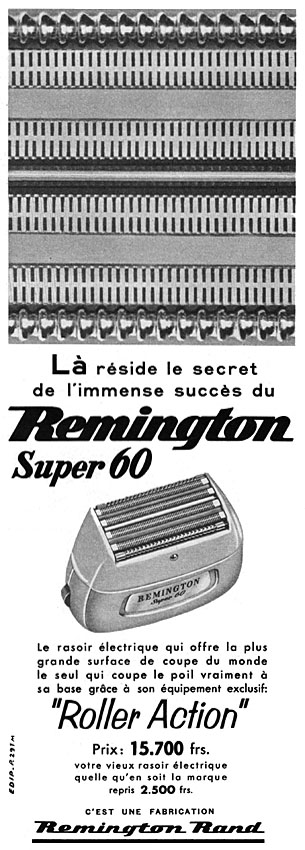 Publicité Remington 1957