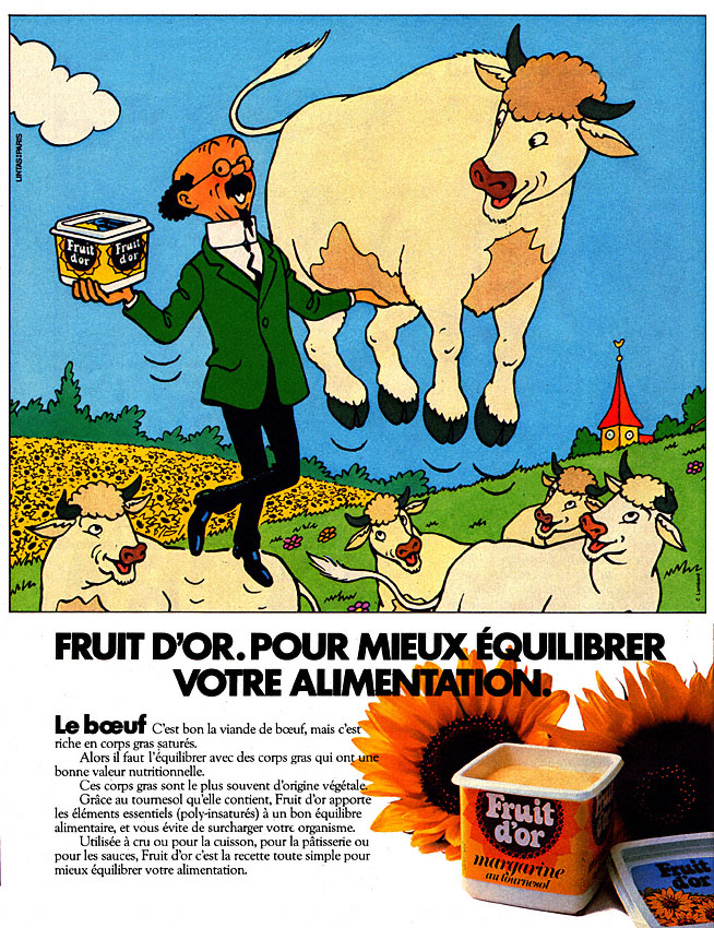 Publicité Fruit d'or 1983