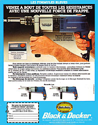 Publicité Black & Decker 1980