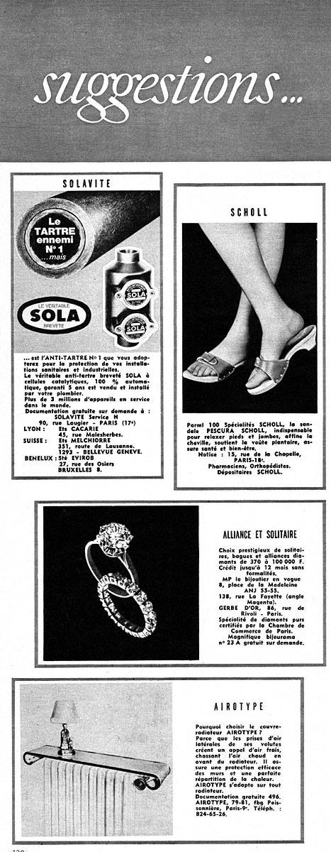 Publicité Suggestions 1969