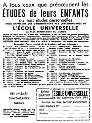 Marque Ecole Universelle 1963