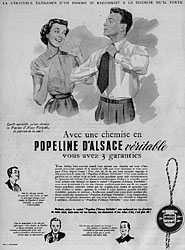 Marque Popeline d'Alsace 1953