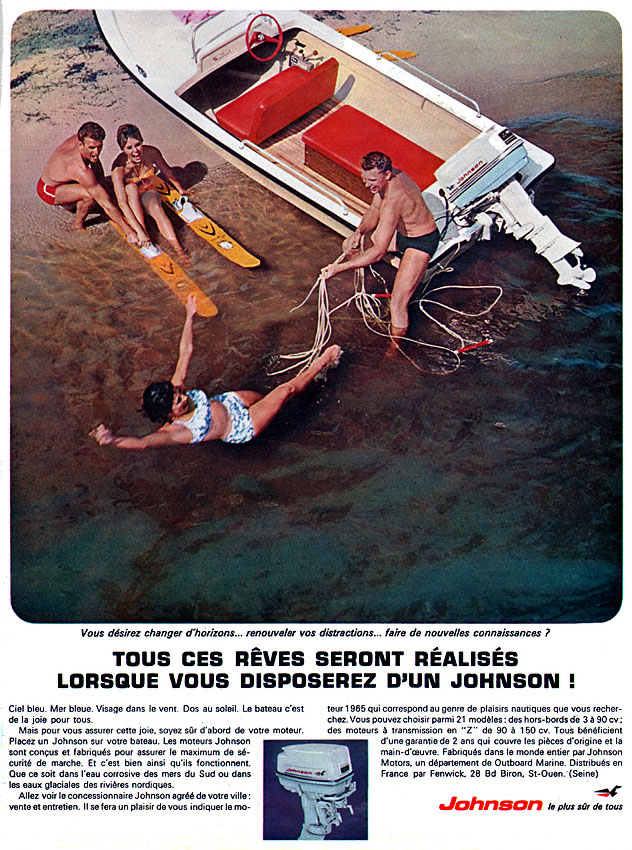 Publicité Johnson 1965