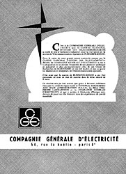 Marque CGE 1962